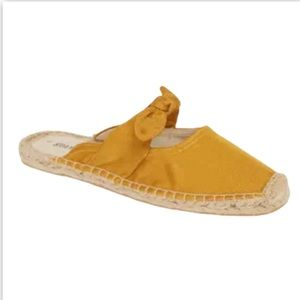 Soludos Bow Mule Espadrilles Mustard Yellow 7.5